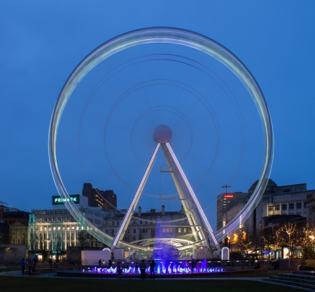Manchester, United Kingdom - Ferris Wheel in Piccadilly Gardens