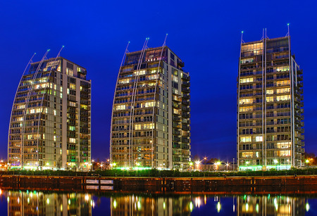 The Residential Towers in MediaCityUK, Manchester, England