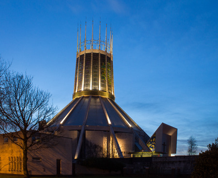 buttresses: Metropolitan Cathedral of Christ the King, Liverpool, England Stock Photo