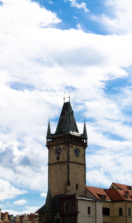 Town Hall Clock Tower in Prague, Czech Republic photo