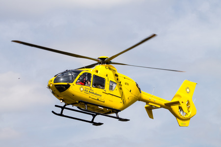 rescue west: North West Air Ambulance Eurocopter EC135 taking off