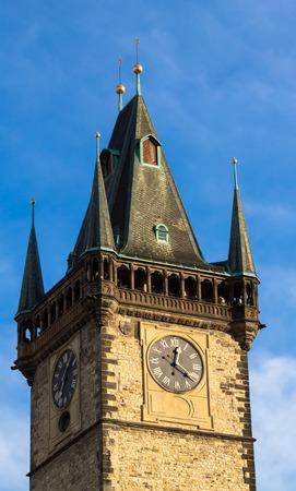 City Hall Clock Tower, Prague, Czech Republic photo