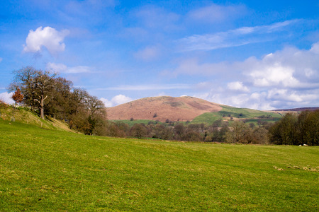 wharfedale: Beautiful scenery and blue sky in Bolton Abbey, Wharfedale, North Yorkshire, UK Stock Photo