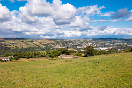 wharfedale: Hills in Keighley, West Yorkshire