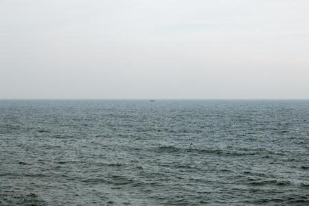 channel surfing: North Sea and Scarborough coast. Scarborough, United Kingdom.