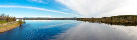 rovaniemi: Kemijoki, the longest river in Finland.