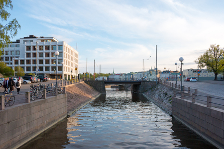 enso: Katajanokka district in central Helsinki, capital of Finland. Stora Enso headquarters on the left. Editorial