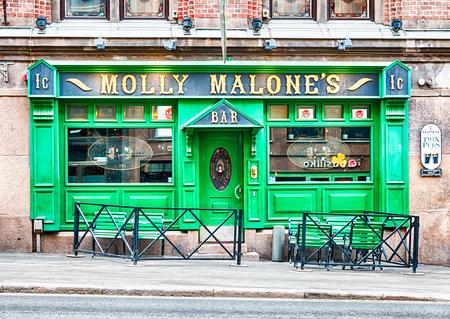 Molly Malone's Irish Pub in central Helsinki, capital of Finland. HDR.