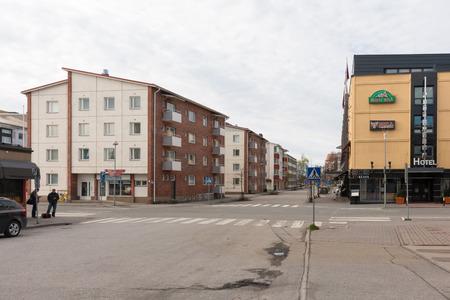 rovaniemi: Cityscape in Rovaniemi, small city located in Arctic Circle, Finnish Lapland. Editorial