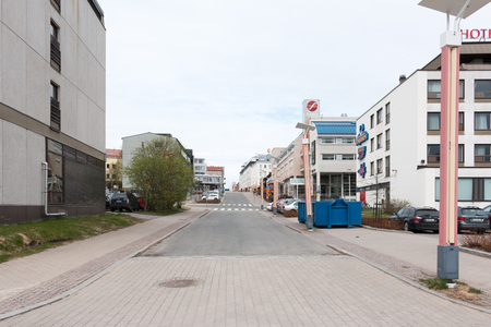 polar climate: Cityscape in Rovaniemi, small city located in Arctic Circle, Finnish Lapland. Editorial