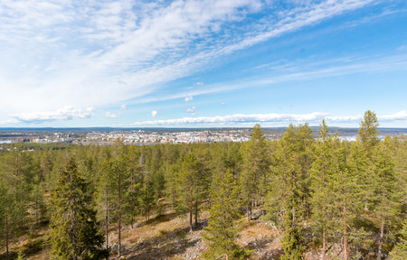 rovaniemi: City of Rovaniemi viewed from Ounasvaara observation tower.
