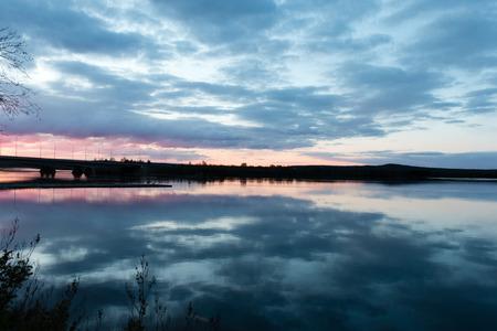 rovaniemi: Beautiful Lapland sunset in Rovaniemi, Finland.