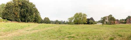 Streatley Recreational Ground, a large greenspace in Streatley, village in Berkshire, England. Stock Photo