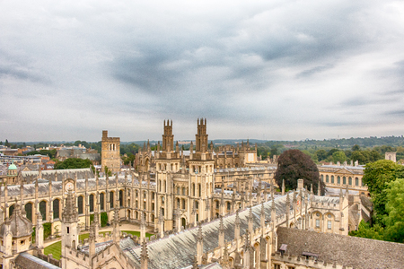 Cityscape of Oxford, a city in South East England, county town of Oxfordshire and home of University of Oxford. HDR.