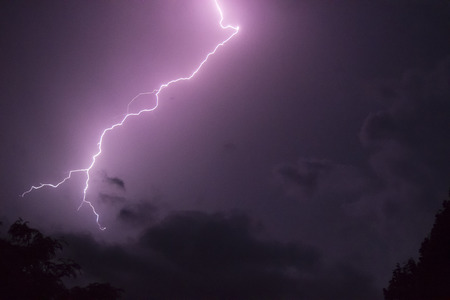 This lightning was the closest of all.