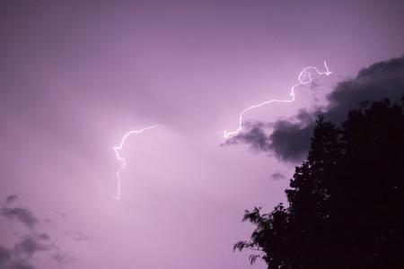 struck: A hail of spider lightning struck throughout southeastern Wisconsin.
