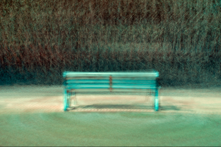 wood bench in a park 版權商用圖片