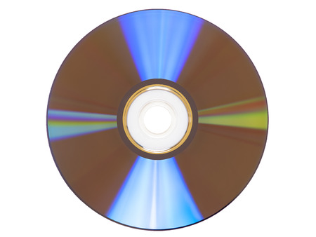 cd: CD DVD disc on White