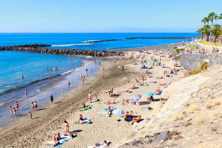 adeje: Adeje beach in Tenerife, Canary island, Spain. Editorial