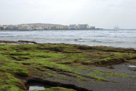 El Medano at low tide Stock Photo