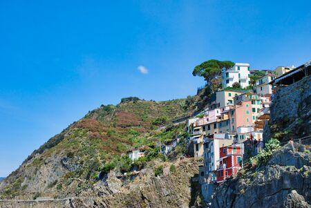 Cinque Terre; Italian coast of Liguria 스톡 콘텐츠
