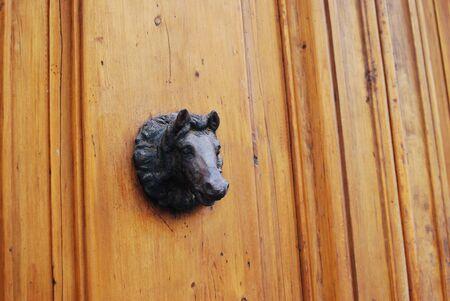 Animal head door knockers Stock Photo