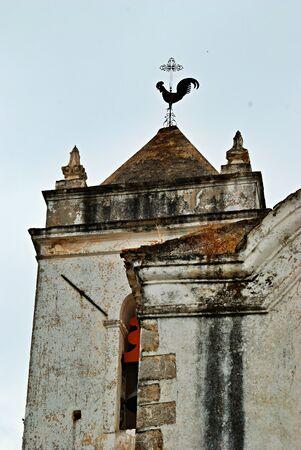 classic church tower in Tavira, Portugal