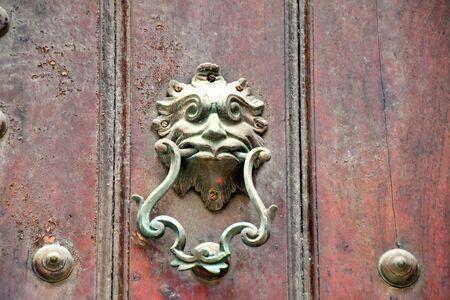 old knockers on the doors of old Havana Stock Photo