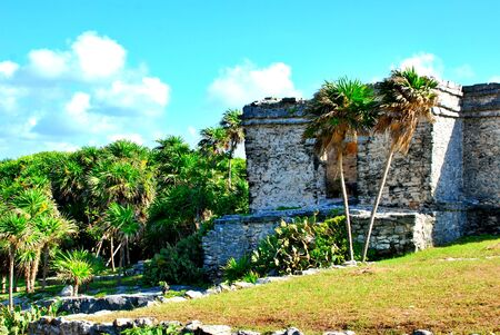 Tulum, ancient Mayan city by the sea in the Yucatan peninsula, Mexico