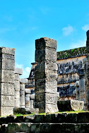 Chichen Itza is one of the main archaeological sites of the Yucatan Peninsula, in Mexico Фото со стока