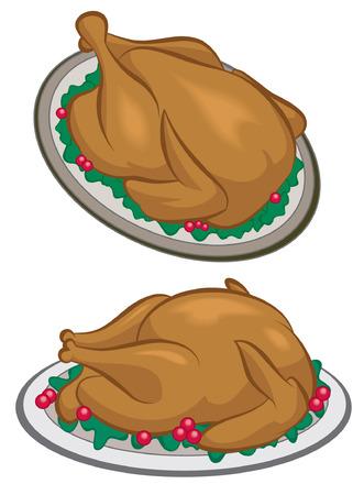 gobbler: Roasted Turkey or chicken dinner