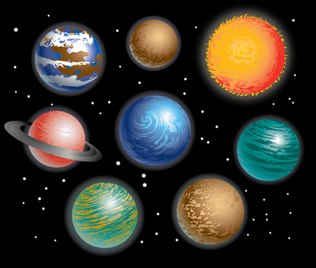 Various Planets Solar System