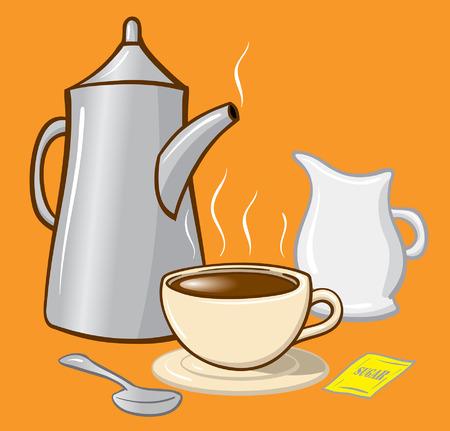 Coffee cup spoon sugar