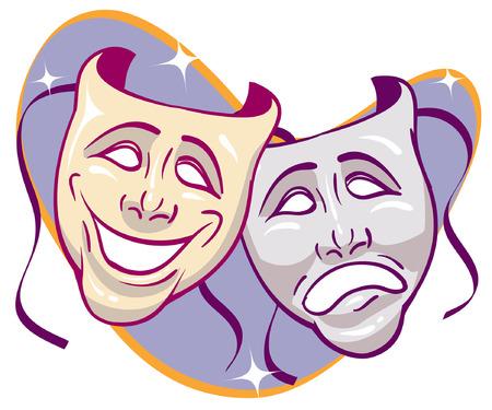 Brillaban drama máscaras Foto de archivo - 29236531