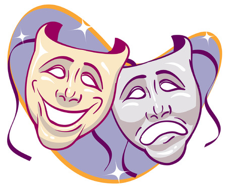 humor mask: Sparkled Drama Masks