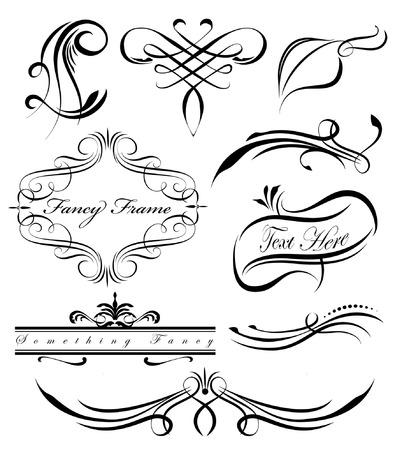 Fantaisie tourbillonne pages entretoises séparateurs Banque d'images - 29236538