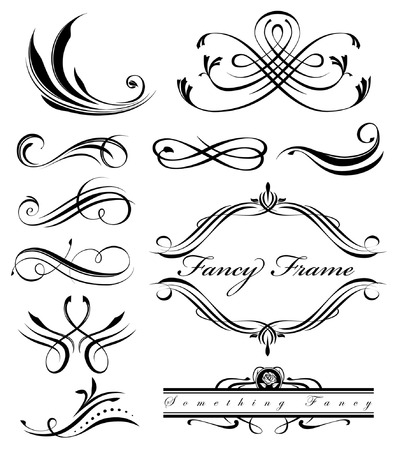 fancy swirls page spacers Vector