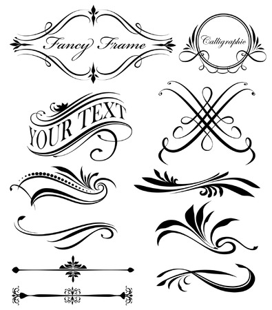 fancy: fancy swirls page spacers dividers