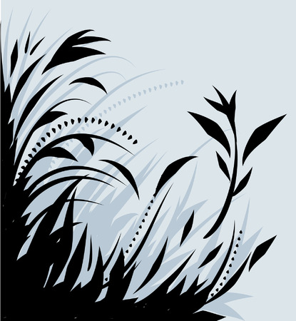 most popular: Corner design of floral plant life Illustration