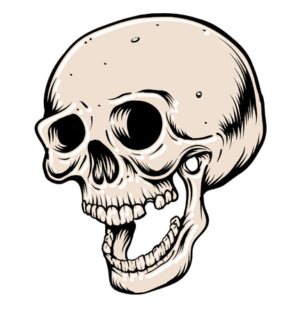 Open mouthed head skull
