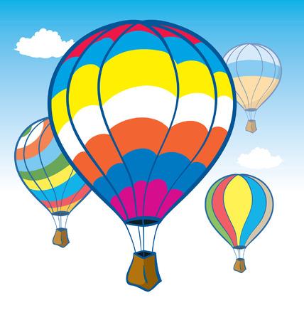 hot air ballon: Colorful Hot air Baloons in Flight