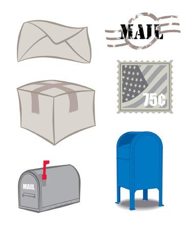 Mailbox mail en stempel