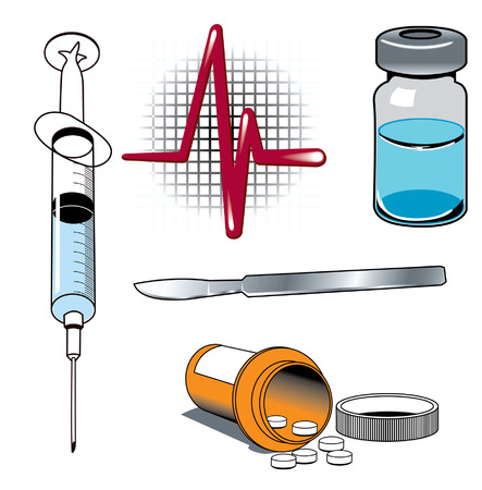 Medical equipment syringe pills