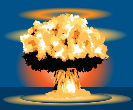 Nuclear Blast Mushroom explosion cloud Stock Vector - 30146137