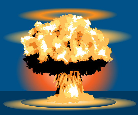 dead end: Nuclear Blast Mushroom explosion cloud