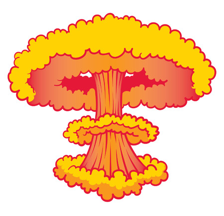 cartoon Nuke explosion Vector