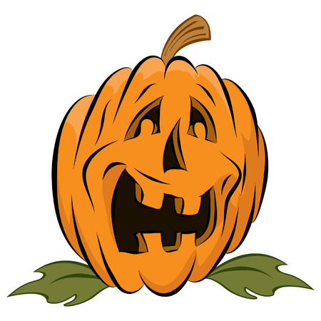 Happy halloween pumpkin vegetalbe jackolantern Illustration