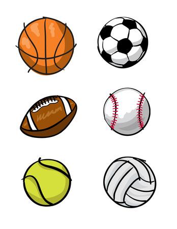 Various illustrations of Sports balls