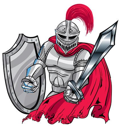 光沢のある鎧の騎士  イラスト・ベクター素材