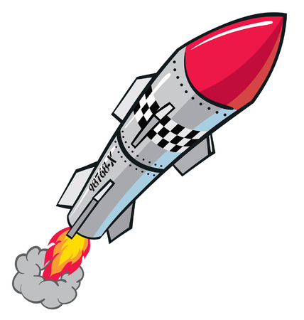 Rocket missle taking off Stock Vector - 30146367